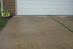 concrete paved driveway