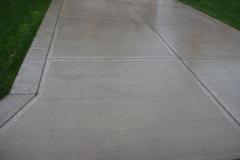 concrete sidewalk driveway