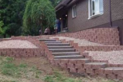 retaining wall brick work